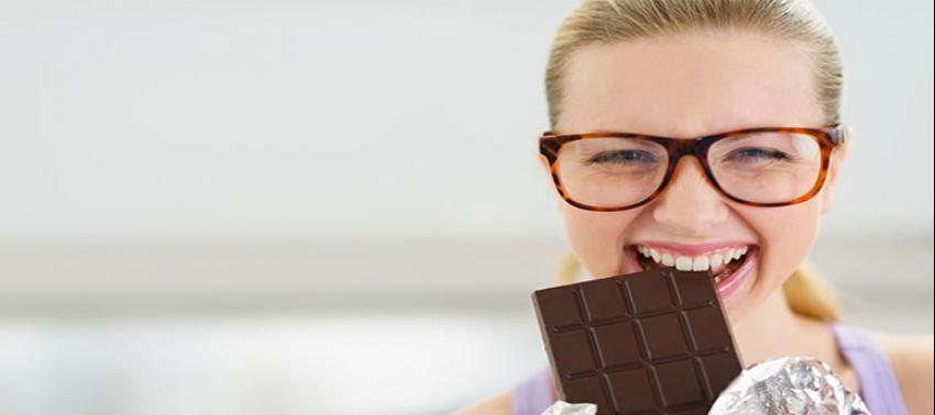 Bol bol çikolata yiyebilirsiniz çünkü...