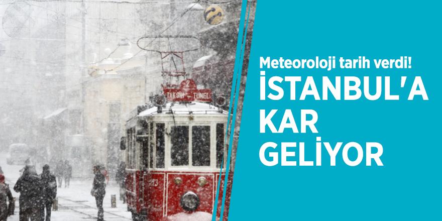 Meteoroloji tarih verdi! İstanbul'a kar geliyor
