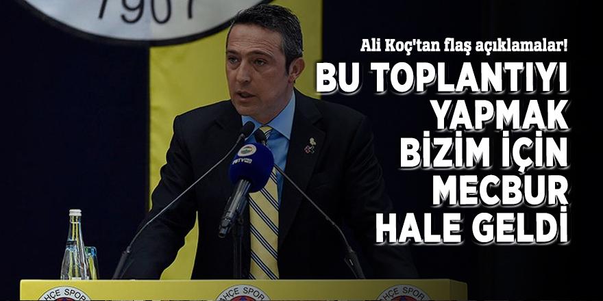 Ali Koç'tan flaş açıklamalar!