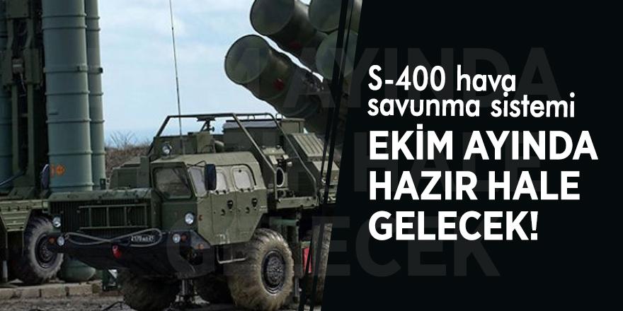 S-400 Ekim ayında hazır
