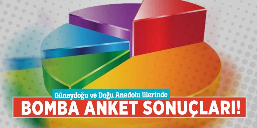 Güneydoğu ve Doğu Anadolu illerinde bomba anket sonuçları!