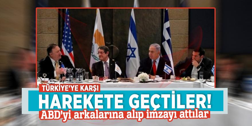 Türkiye'ye karşı harekete geçtiler! ABD'yi arkalarına alıp imzayı attılar