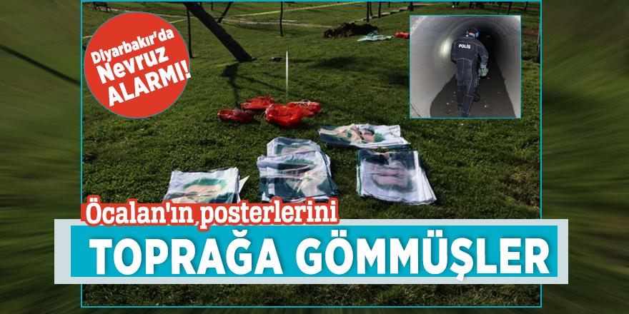Diyarbakır'da Nevruz alarmı! Öcalan'ın posterlerini toprağa gömmüşler
