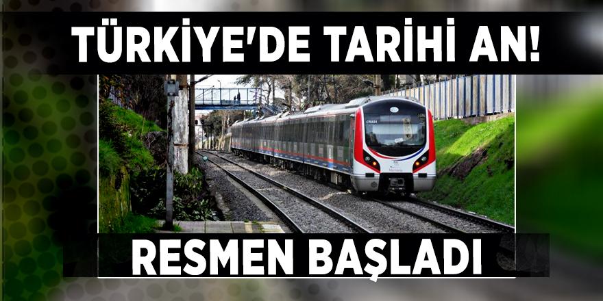 Türkiye'de tarihi an! Resmen başladı