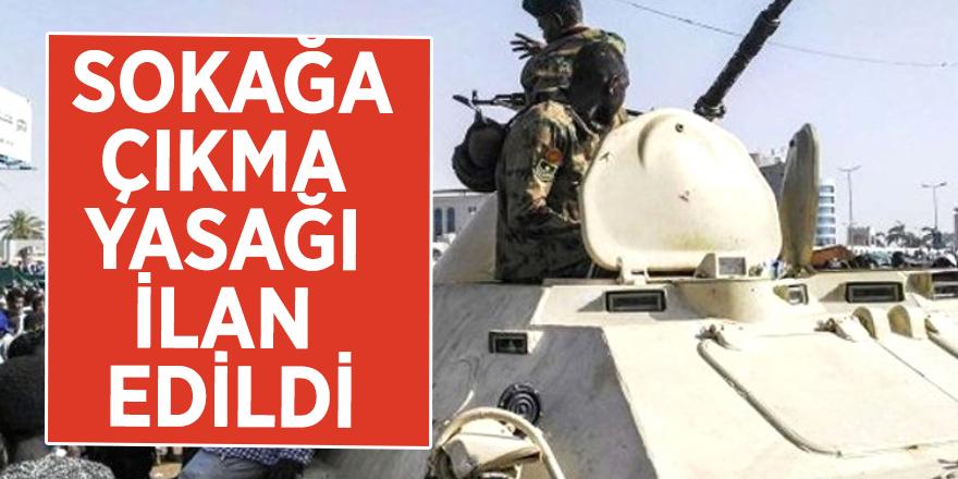 Sudan'da sokağa çıkma yasağı ilan edildi