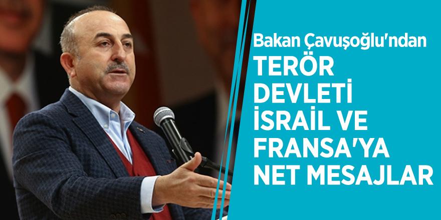 Bakan Çavuşoğlu'ndan terör devleti İsrail ve Fransa'ya net mesajlar