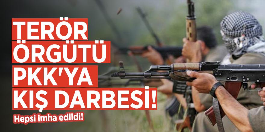 Terör örgütü PKK'ya kış darbesi! Hepsi imha edildi