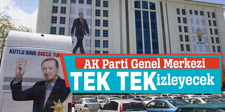 AK Parti Genel Merkezi tek tek izleyecek