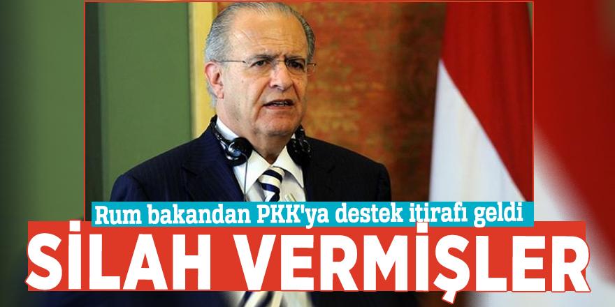 Rum bakandan PKK'ya destek itirafı geldi