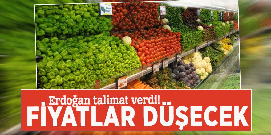 Erdoğan talimat verdi! Fiyatlar düşecek