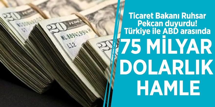 Ticaret Bakanı Ruhsar Pekcan duyurdu! Türkiye ile ABD arasında 75 milyar dolarlık hamle