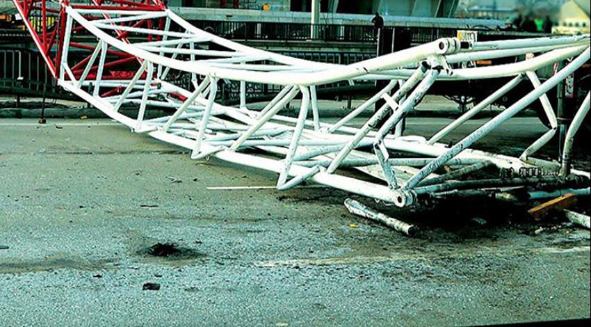 Çin'de vinç kazası: ölü ve yaralı var!