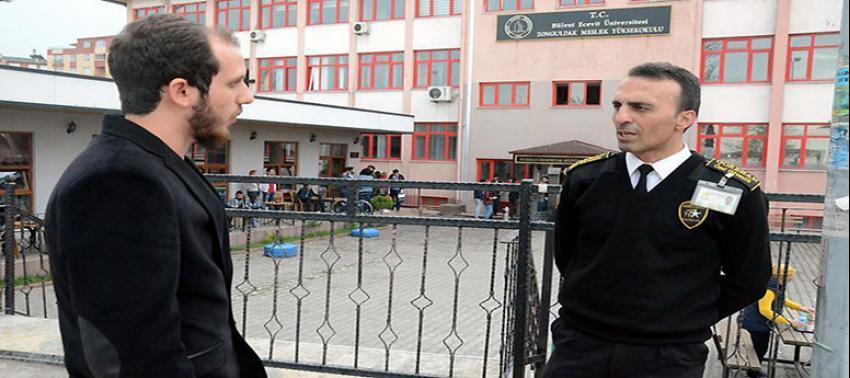 Öğrencisi olduğu okulun 'güvenliği' de ona emanet