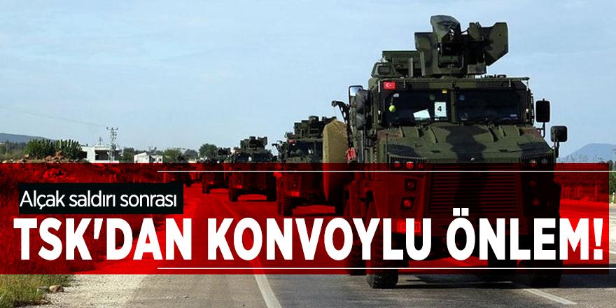 Alçak saldırı sonrası TSK'dan konvoylu önlem!