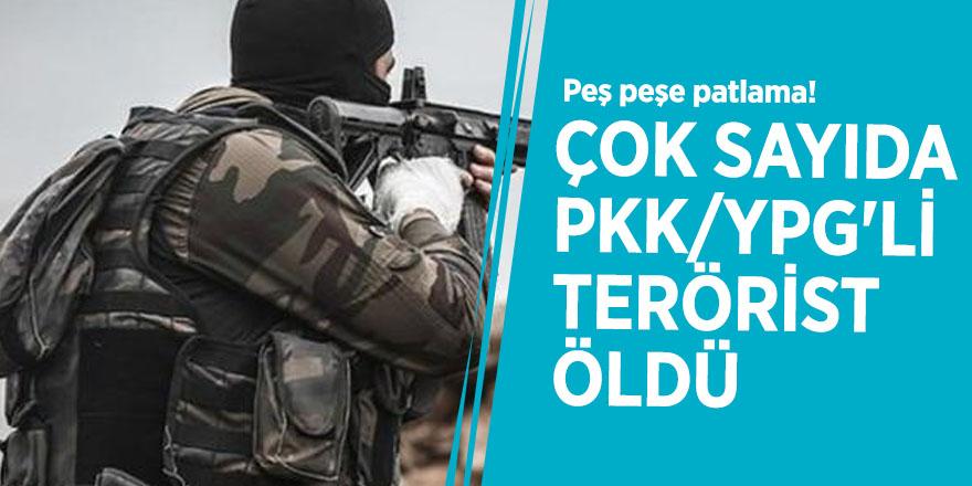 Peş peşe patlama! Çok sayıda PKK/YPG'li terörist öldü
