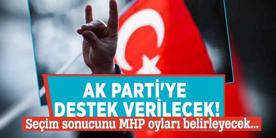 AK Parti'ye destek verilecek! Seçim sonucunu MHP oyları belirleyecek...