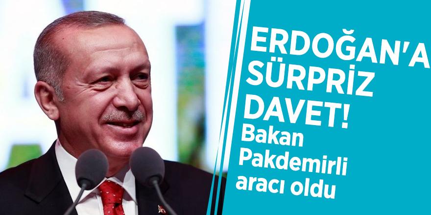 Erdoğan'a sürpriz davet! Bakan Pakdemirli aracı oldu