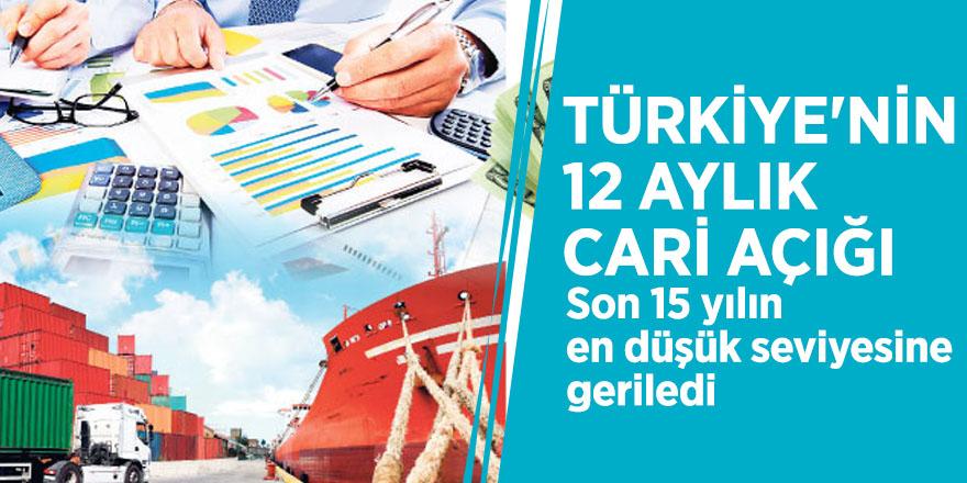 Türkiye'nin 12 aylık cari açığı son 15 yılın en düşük seviyesine geriledi