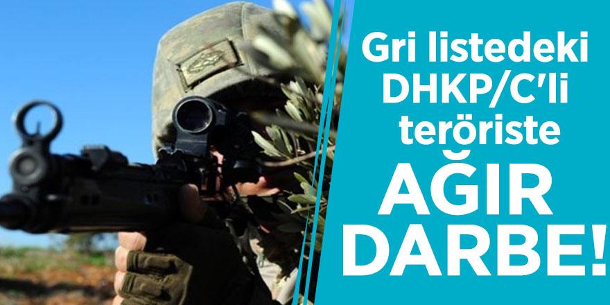 Gri listedeki DHKP/C'li teröriste ağır darbe!