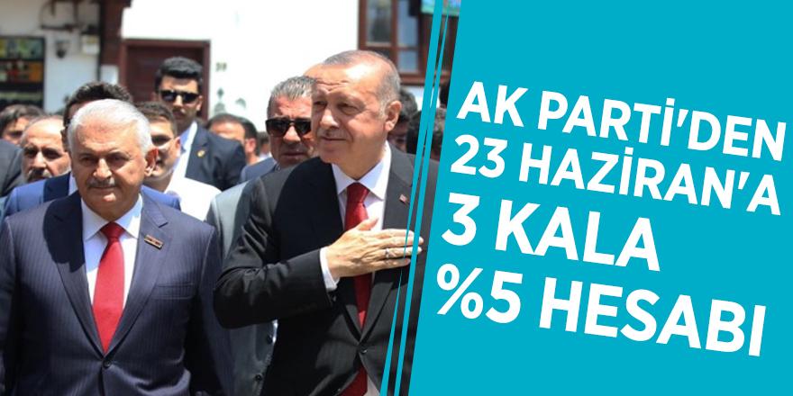 AK Parti'den 23 Haziran'a 3 kala %5 hesabı