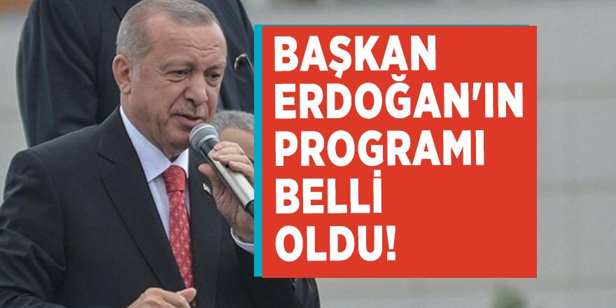 Başkan Erdoğan'ın programı belli oldu!