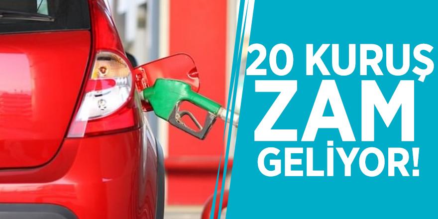 Motorinden sonra benzine de 20 kuruş zam geliyor!