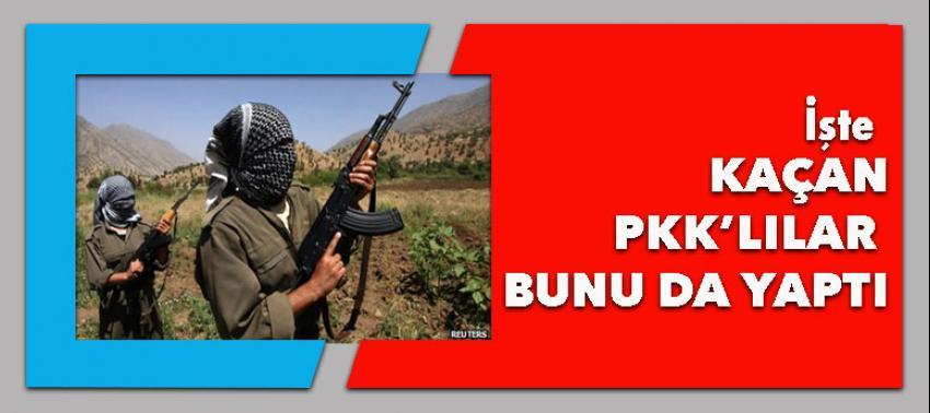 PKK'lılar kaçarken bunu yaptı!