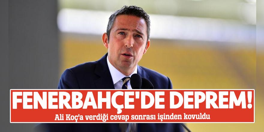 Fenerbahçe'de deprem! Ali Koç'a verdiği cevap sonrası işinden kovuldu