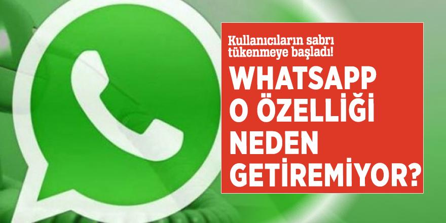Kullanıcıların sabrı tükenmeye başladı! WhatsApp o özelliği neden getiremiyor?