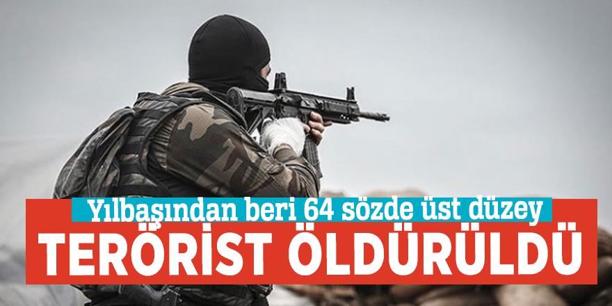 Yılbaşından beri 64 sözde üst düzey terörist öldürüldü