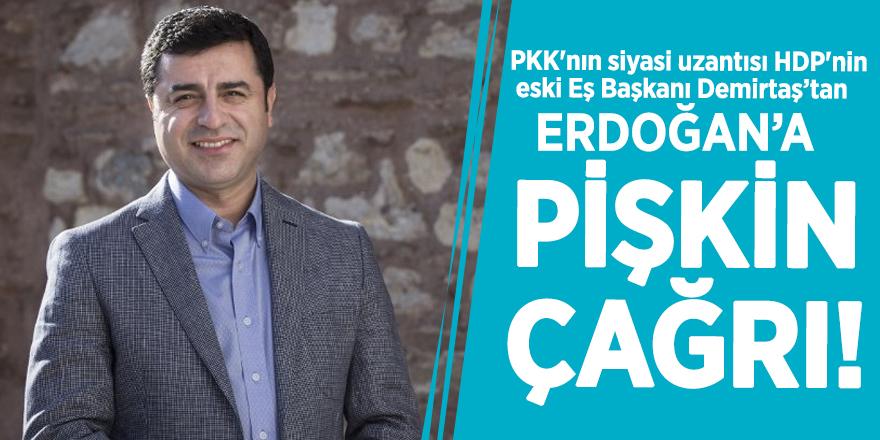 Selahattin Demirtaş'tan Başkan Erdoğan'a pişkin çağrı!