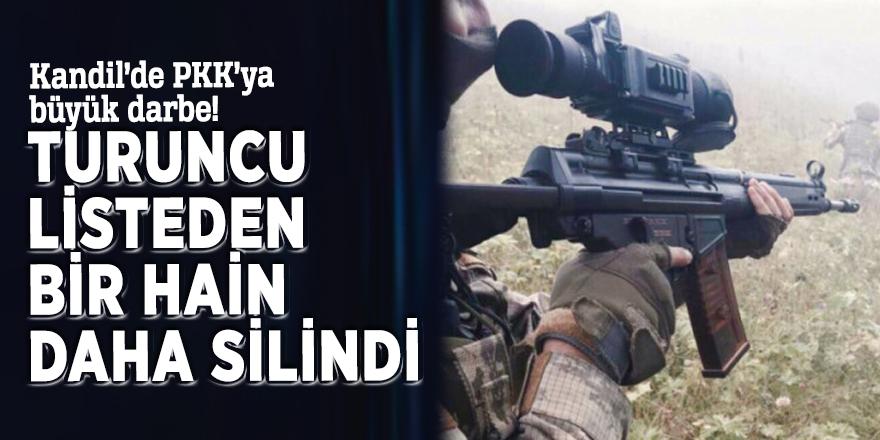 Kandil'de PKK'ya büyük darbe! Turuncu listeden bir hain daha silindi