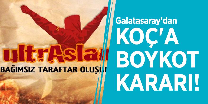 Galatasaray'dan Koç'a boykot kararı!