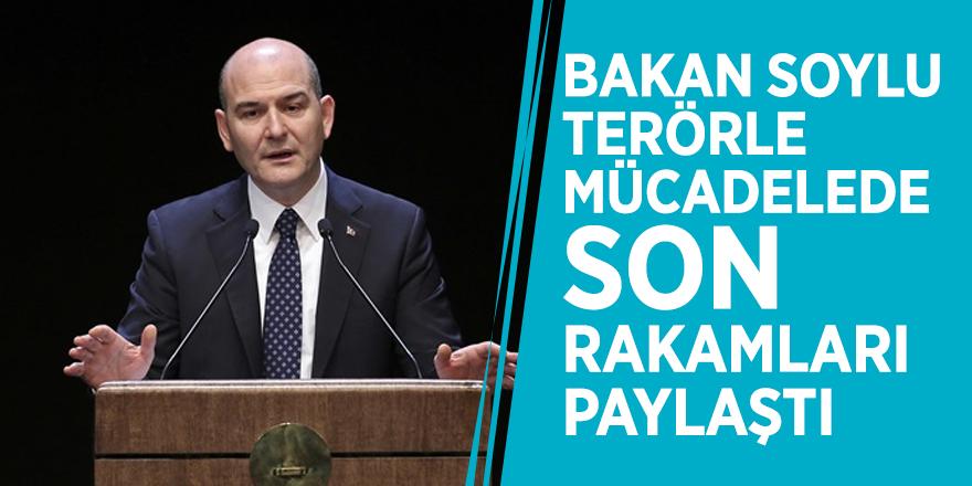 Bakan Soylu terörle mücadelede son rakamları paylaştı
