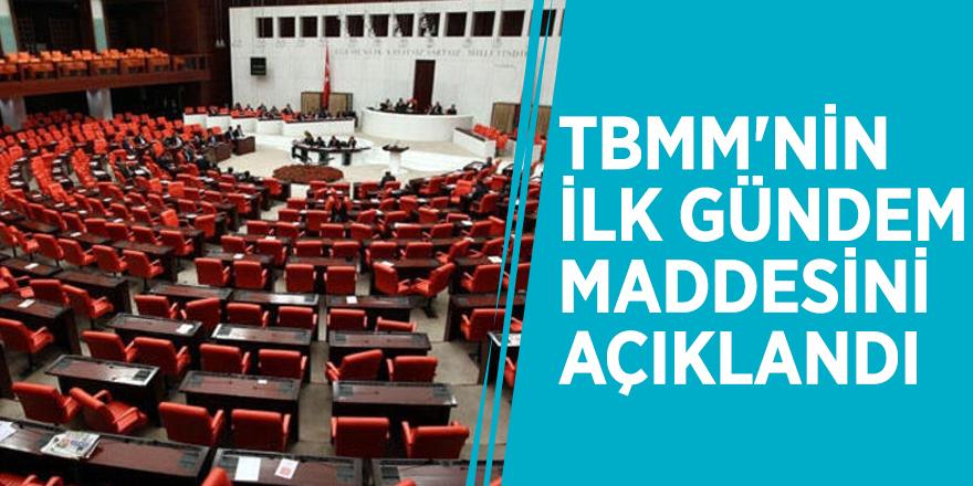 Abdulhamit Gül TBMM'nin ilk gündem maddesini açıkladı