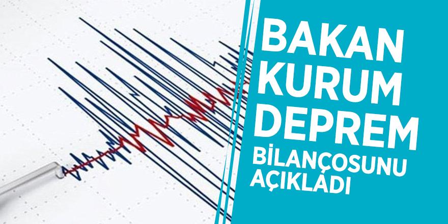 Bakan Kurum deprem bilançosunu açıkladı