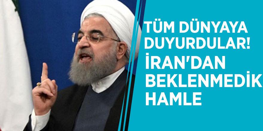 Tüm dünyaya duyurdular! İran'dan beklenmedik hamle