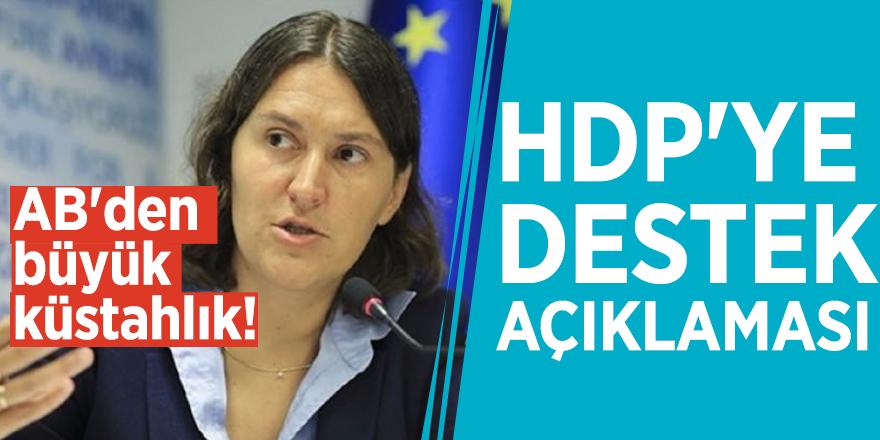 AB'den büyük küstahlık! HDP'ye destek açıklaması