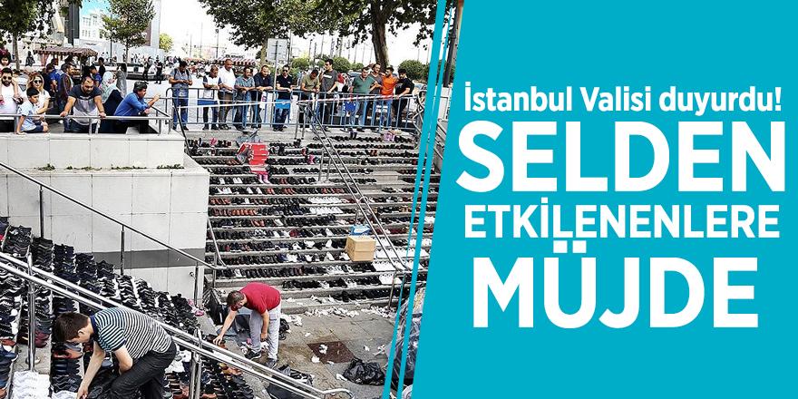 İstanbul Valisi duyurdu! Selden etkilenenlere müjde