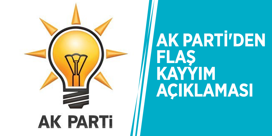 AK Parti'den flaş kayyım açıklaması