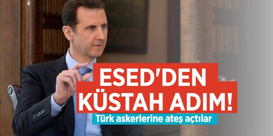 Esed'den küstah adım! Türk askerlerine ateş açtılar