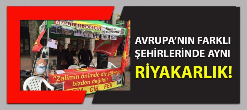 Avrupa'nın bu kez  farklı şehrinde aynı riyakarlık: PKK çadırı kuruldu