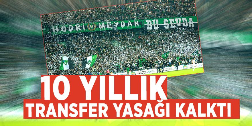 Türkiye'nin köklü kulübünün 10 yıllık transfer yasağı kalktı