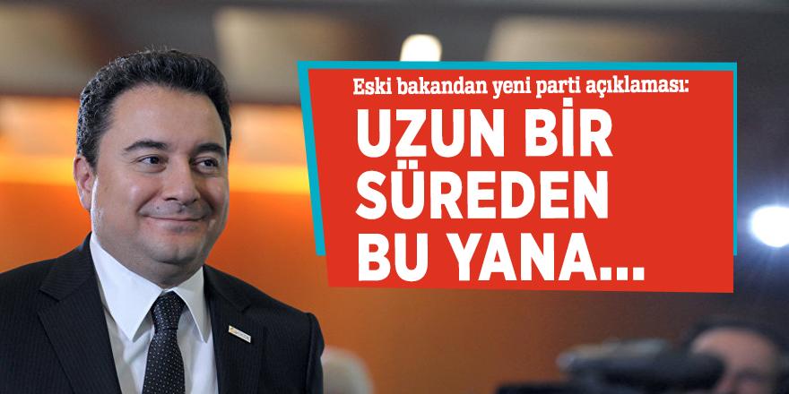 Eski bakandan yeni parti açıklaması: Uzun bir süreden bu yana...