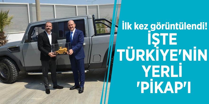 İlk kez görüntülendi! İşte Türkiye'nin yerli 'pikap'ı