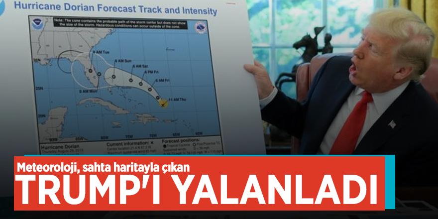 Meteoroloji, sahta haritayla çıkan Trump'ı yalanladı