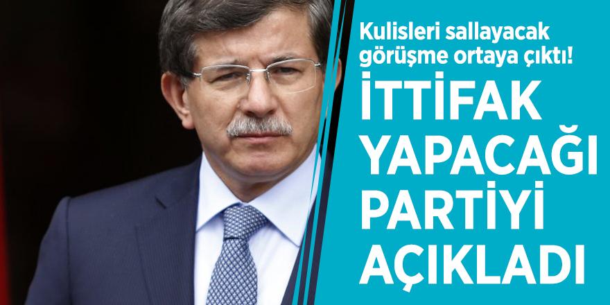 Kulisleri sallayacak görüşme ortaya çıktı! Ahmet Davutoğlu'nun ittifak yapacağı partiyi açıkladı