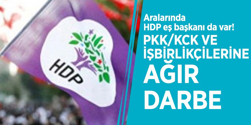 Aralarında HDP eş başkanı da var! PKK/KCK ve işbirlikçilerine ağır darbe