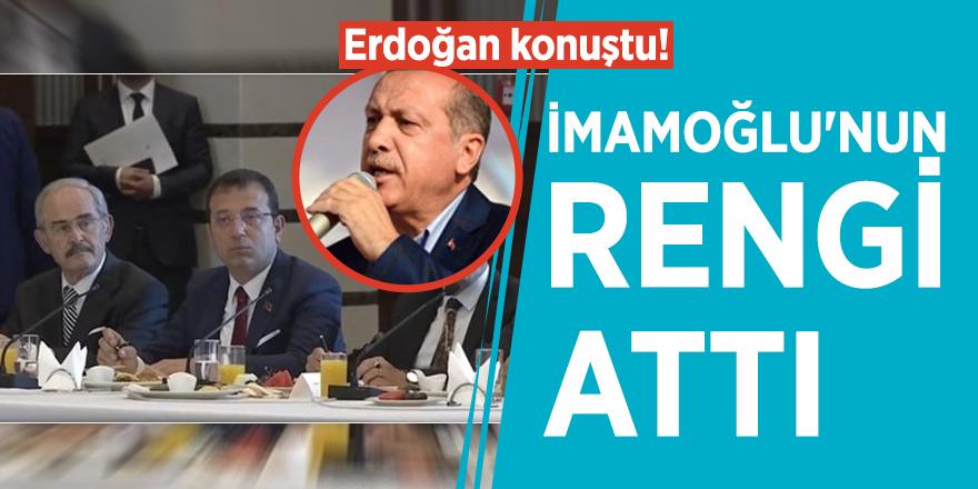 Erdoğan konuştu! İmamoğlu'nun rengi attı