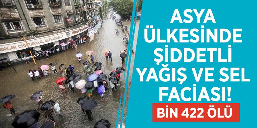 Asya ülkesinde şiddetli yağış ve sel faciası! Bin 422 ölü